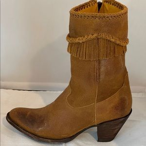 Old Gringo clipped fringe cowgirl boots
